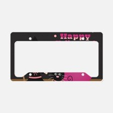 Cute Witch and Black Cat, Hap License Plate Holder