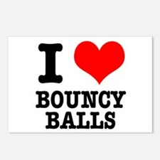 I Heart (Love) Bouncy Balls Postcards (Package of