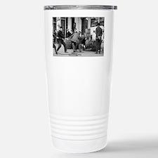 Police Seizing Bootleg  Travel Mug