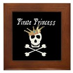 Pirate Princess Framed Tile