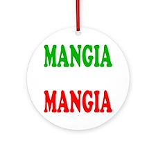 Mangia Round Ornament