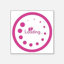 "Loading Baby Footprints Square Sticker 3"" x 3"""