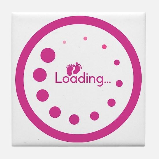 Loading Baby Footprints Tile Coaster