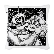 Robot Monster Woven Throw Pillow