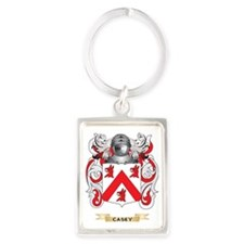 Casey Coat of Arms Portrait Keychain