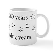 40 birthday dog years 4-1 Mug