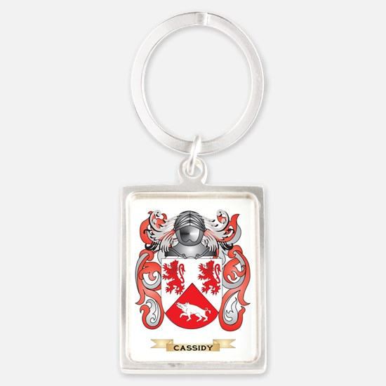 Cassidy Coat of Arms Portrait Keychain