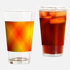 Bright Burnt Orange Drinking Glass