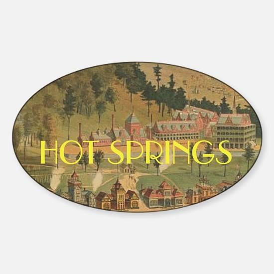 Hot Springs Sticker (Oval)