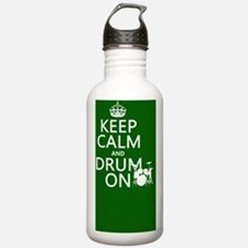 Keep Calm and Drum ... Water Bottle
