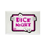 Dice Night Rectangle Magnet