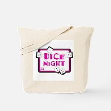 Dice Night Tote Bag