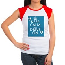Keep Calm and Drive On Women's Cap Sleeve T-Shirt