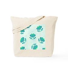 cute blue froggy pattern Tote Bag