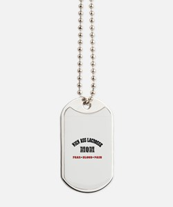 Kick Ass Lacrosse Mom Dog Tags