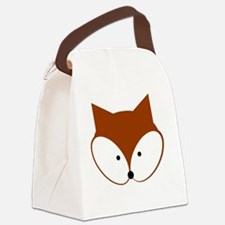 Curious Fox Canvas Lunch Bag