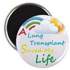 A Lung Transplant Saved my Life Rainbow Clo Magnet