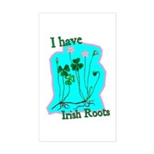 I Have Irish Roots Rectangle Decal