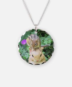 Chipmunk and garden bunny Necklace
