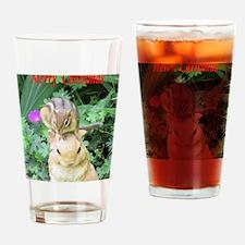 Chipmunk and garden bunny Drinking Glass