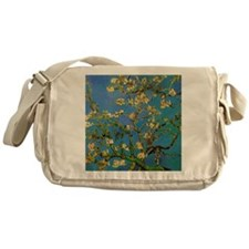 Blossoming Almond Tree by Vincent va Messenger Bag