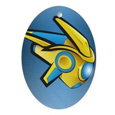 Fierce Protoss Drone SC2 Oval Ornament