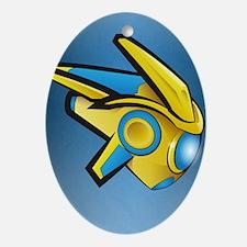 Fierce Protoss Drone SC2 Oval Ornament