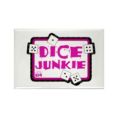 Dice Junkie Rectangle Magnet (100 pack)