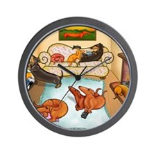 domestic dachshunds Wall Clock