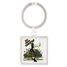 Sex Drugs Dubstep Square Keychain