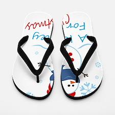 A Kidney For Christmas Flip Flops