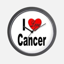 I Love Cancer Wall Clock