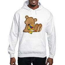 cute teddy bear with crayons Hoodie