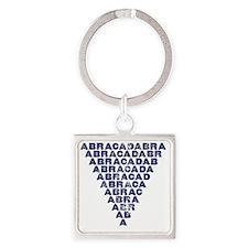 Abracadabra (dark inverted pyramid Square Keychain