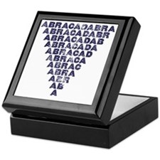 Abracadabra (dark inverted pyramid) Keepsake Box