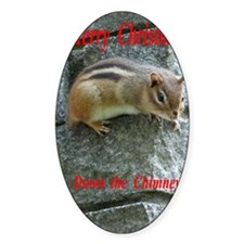 Chipmunk down the Chimney Decal