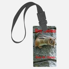 Chipmunk down the Chimney Luggage Tag