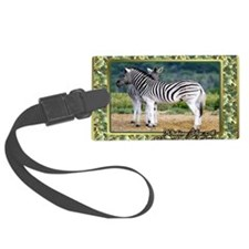 Zebra Christmas Card Luggage Tag