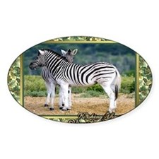 Zebra Christmas Card Decal