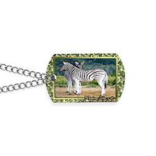 Zebra Christmas Card Dog Tags
