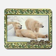 Polar Bear Christmas Card Mousepad