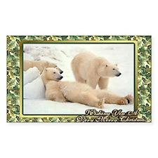 Polar Bear Christmas Card Decal