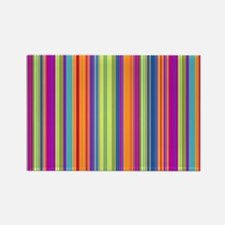 Stripes Rectangle Magnet