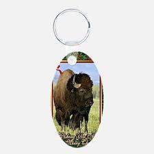 North American Bison Christ Keychains