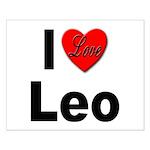 I Love Leo Small Poster