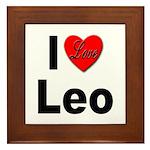 I Love Leo Framed Tile