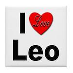 I Love Leo Tile Coaster