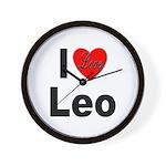 I Love Leo Wall Clock