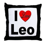 I Love Leo Throw Pillow
