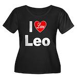 I Love Leo (Front) Women's Plus Size Scoop Neck Da